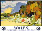 TT97 Vintage Wales GWR Railway Travel Poster Re-Print A3 A2
