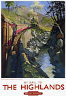 TU24 Vintage The Highlands Inverness-Shire Travel Railway Poster Print A3 A2
