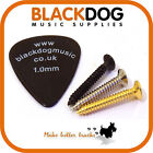Guitar screws in chrome black or gold string tree pickup surrounds 2.4mm x 18mm