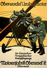 WA93 Vintage WWI German Aviation Motorenfabrik Oberursel Poster WW1 A1 A2 A3