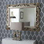 """48"""" x 36"""" LG French White Carved Decorative Bevelled Mirror - 6.5"""" Wide Frame"""