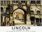 TU64 Vintage Lincoln Stonebow LNER Railway Travel Poster Print A2/A3
