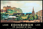 TU87 Vintage Edinburgh LMS LNER Railway Travel Poster Re-Print A2 A3