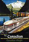 TW37 Vintage 1950's Canadian Pacific Dome Route Railway Travel Poster A2/A3
