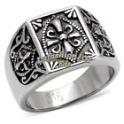 Stainless Steel Mens Mason Templar Knights Templar Ring SIZE 8,9,10,11,12,13