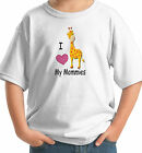 I LOVE MY TWO 2 MOMMIES MOMS BABY T-SHIRT LESBIAN GAY GIRAFFE white grey