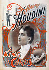 M53 Vintage Harry Houdini King Of Cards Magic Show Poster Re-Print A4
