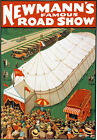 M56 Vintage Newmanns Circus Magic Theatre Poster Re-Print A4