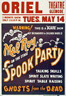 M58 Vintage Spooky Scare Show Magic Theatre Poster Re-Print A4