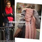 sca1 Celebrity Style Trendy Coloured Chunky Cable Knitted Oversized Scarf & Wrap