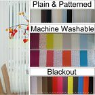"From 99p  5"" 3.5"" Vertical blinds SLATS LOUVRES black out machine washable plain"
