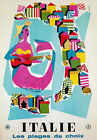 TW17 Vintage Italie Italy Beaches Of Choice Italian Travel Poster Re-print A2/A3