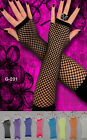 Elbow Length Fingerless Fishnet Gloves - One Size Fits Kids to Adults - One Pair