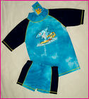 2 Pc RASHI Sz 6 8 or 10 Swimwear BOYS SHARK TOGS - Rash Top & Shorts Bathers NEW