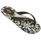 Sanuk Hana womens Flip Flop sandals Sidewalk Brown