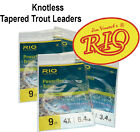 RIO 9ft Tapered Leaders for Fly Fishing - Trout Fishing  - All Breaking Strians