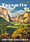 TA8 Vintage Airlines Yosemite National Park America Travel Poster A4