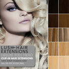 Lush Hair Extensions Deluxe Double Wefted Clip In Remy Human Hair Extensions
