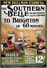 TR55 Vintage Brighton Southern Belle Railway Poster Re-Print A4