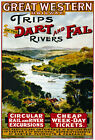 TR67 Vintage Dart & Fal Rivers GWR Railway Travel Poster A4