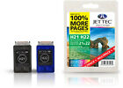 2 Remanufactured Jettec HP21/HP22 Ink Cartridges for PSC 1402 & more