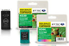 2 Remanufactured Jettec HP339/HP344 Ink Cartridges for Officejet 7313XI & more