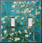 Metal Light Switch Plate Cover - Van Gogh Art Almond Blossoms Tree Decor Blue