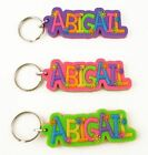 Girls name keyrings - names A-I - key ring - Starburst design 3 colours
