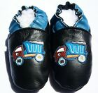Moxiesbabyshoes TRUCK soft soled leather boys baby shoes  0-6 TO 6-7 yrs