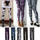 Artsy Tie Dye Opaque 120D Footless Tights Leggings multiple colour hos060