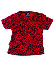 Darkside Clothing Red Leopard Animal Print Baby Toddler Kids Short Sleeve Tshirt