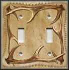 Light Switch Plate Cover - Rustic Home Decor - Image Of Deer Antlers - Cabin