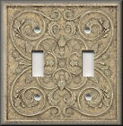 Light Switch Plate Cover - Home Decor - French Pattern Image - Light Tan