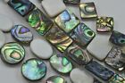 1 string- Green Abalone White Shell Mother of Pearl Beads 12mm