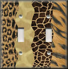 Light Switch Plate Cover - Wavy Stripes - Animal Prints - Home Decor