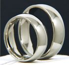 New Men/Women Stainless Steel 316L White Gold Plated Engagement Wedding Ring Set