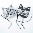 TA0056 Cat Mask Halloween Decor Mardi Gras 180 degrees Paper Mask Black or White