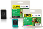 Remanufactured HP338/HP343 Black/Colour Ink Cartridges for Officejet 7408 &more