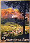 TX66 Vintage Italy Cortina D'Ampezzo Italian Travel Poster Re-Print A1/A2/A3