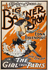 B18 Vintage 1910 Burlesque Girl From Paris Theatre Poster A1 A2 A3