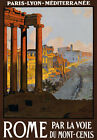 T10 Vintage 1920's Italy Rome French Railway Travel Poster A1 A2 A3