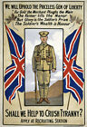 WA67 Vintage WWI Canadian British Empire War Recruitment Poster WW1 A1 A2 A3