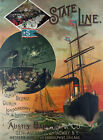 TS2 Vintage Shipping State Line To Ireland Liverpool Ship Poster Print A1 A2 A3