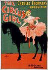 TZ57 Vintage 1890's Circus Girl Theatre Poster A1 A2 A3