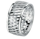 10mm Solid Sterling Silver Cross Over Enginered Band Ring