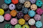 Wholesale 10x Shamballa Crystal Pave Clay Disco Ball Beads 6mm 8m 10mm 12mm 14mm
