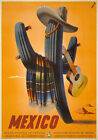 TX14 Vintage 1945 MEXICO Mexican Travel Tourism Poster Re-Print A4