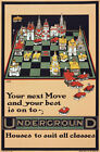 TX61 Vintage 1914 Underground Your Next House Move Travel Poster Re-Print A4