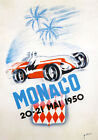 AV39 Vintage 1950 Monaco Grand Prix Motor Racing Poster Re-Print A4