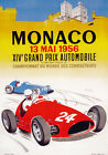 AV42 Vintage 1956 Monaco Grand Prix Motor Racing Poster Re-Print A4